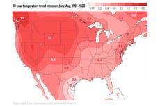 Summer swelter trend: West gets hotter days, East hot nights