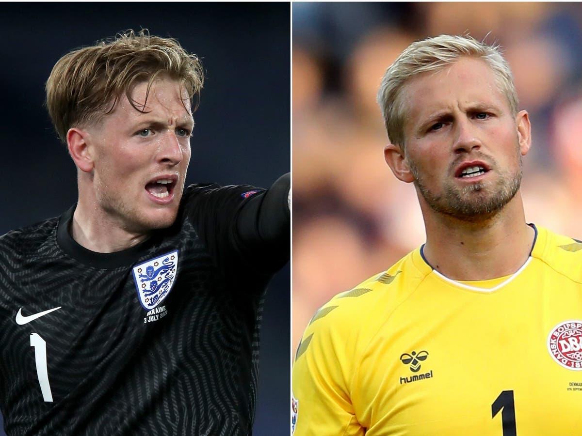 Darlington skakel vir Euro 2020 houers van die halfeindstryd, Jordan Pickford en Kasper Schmeichel