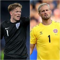 Darlington link for semi-final keepers Jordan Pickford and Kasper Schmeichel