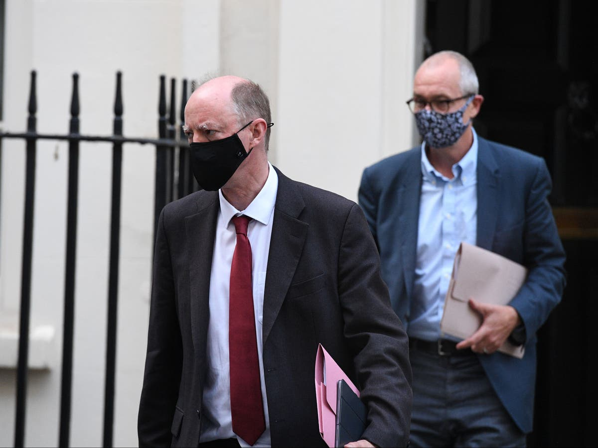 Chris Whitty and Sir Patrick Vallnce to wear face masks in crowded indoor spaces