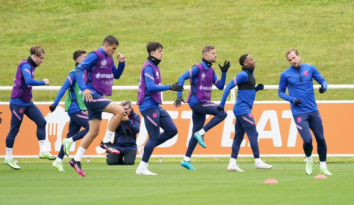 No absentees from England training ahead of Euro 2020 semi-final