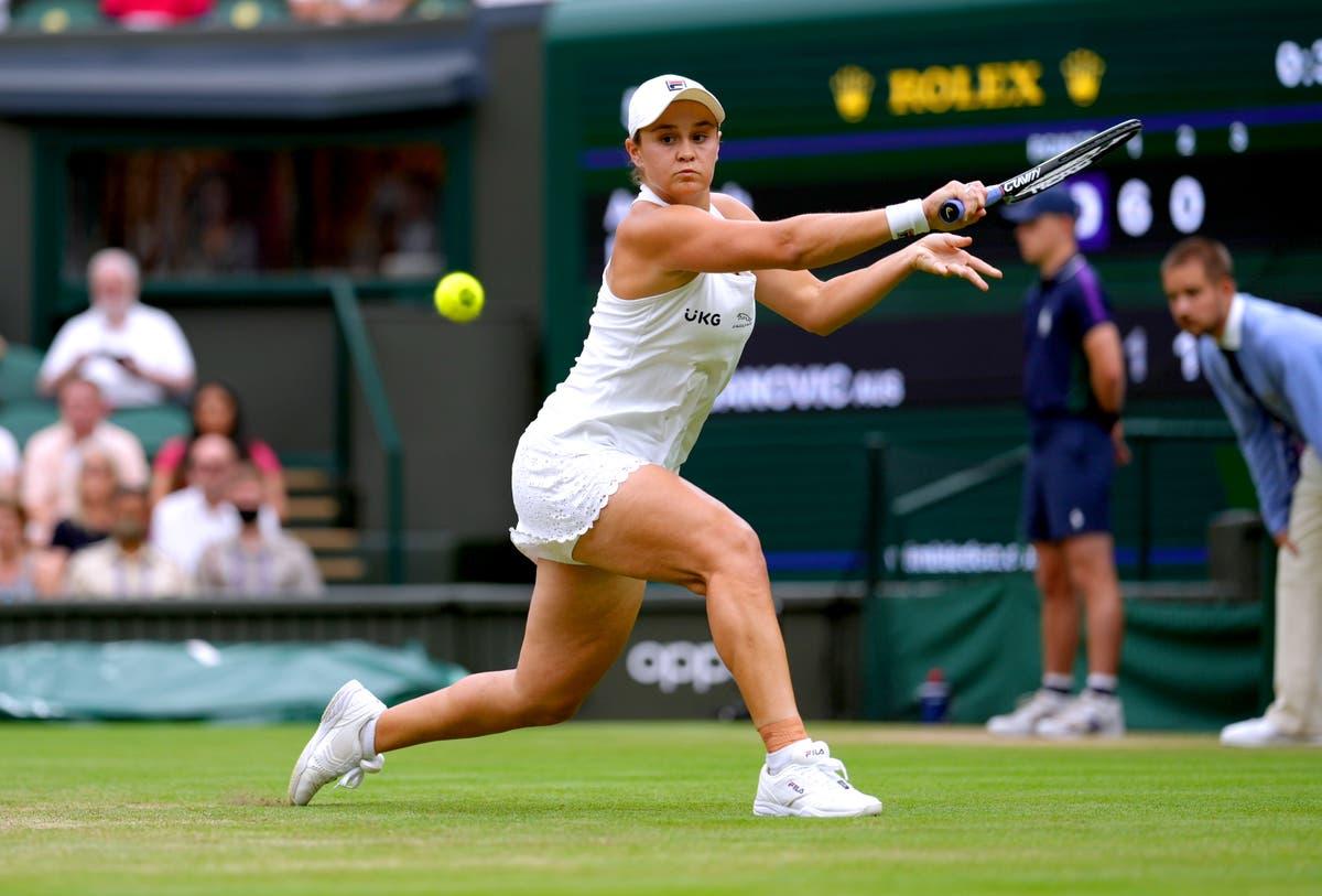 Top seed Ashleigh Barty cruises into Wimbledon semi-finals