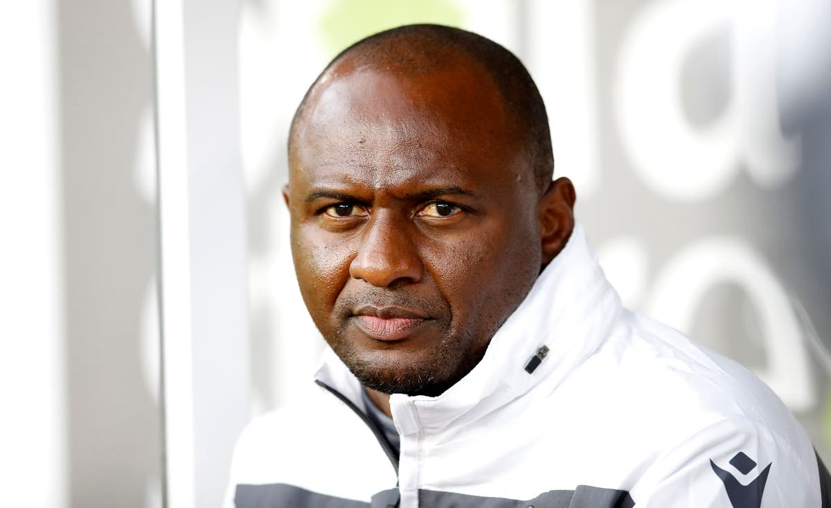 Patrick Vieira confident he is the right man during 'crucial period' at Crystal Palace