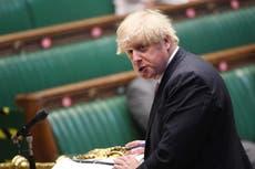 Boris Johnson refuses three times to say whether he sacked Matt Hancock after CCTV kissing footage