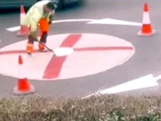 Euro 2020: Council asks England fans to stop painting flags on roundabouts