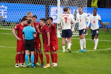 Inglaterra vs Dinamarca: Kasper Hjulmand upset with penalty decision as Euro 2020 sonho acaba