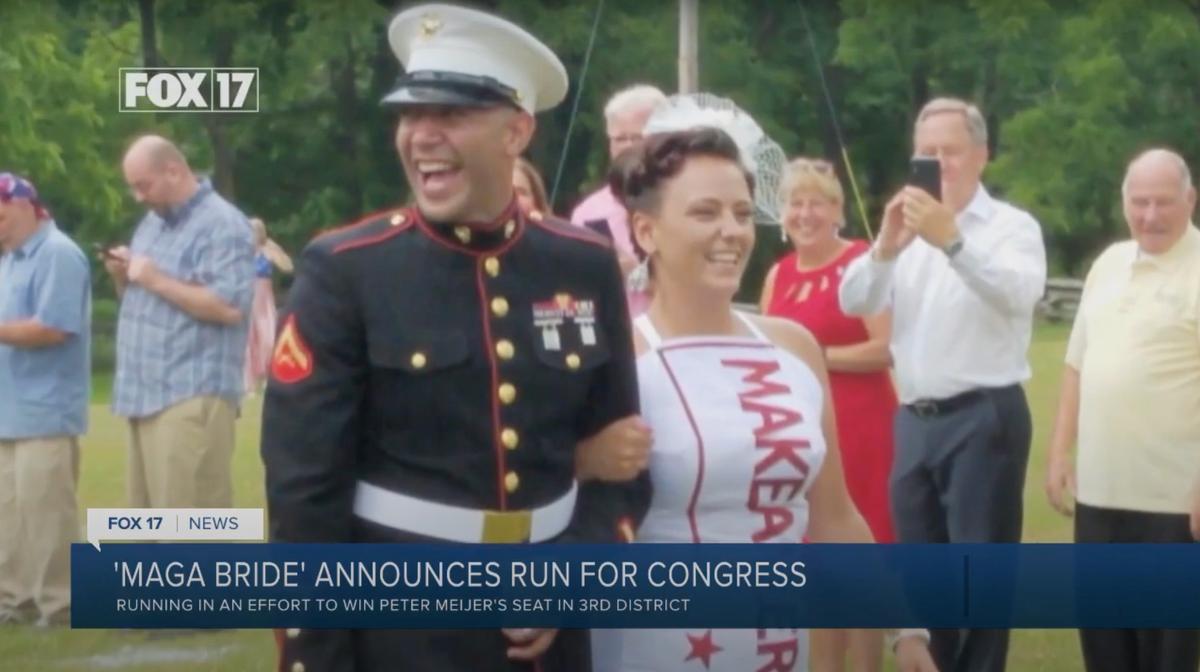 'MAGA Bride' runs against GOP congressman who voted to impeach Trump in Michigan 'civil war' primary