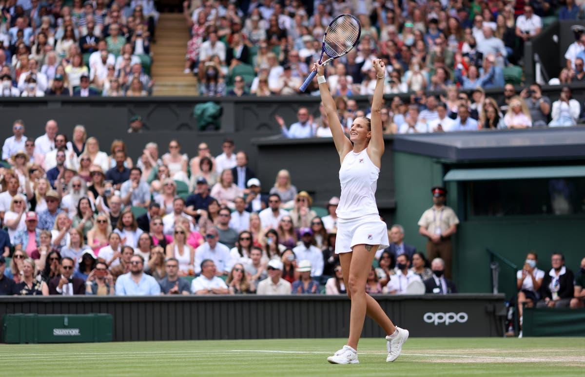 Karolina Pliskova battles back to beat Aryna Sabalenka and reach Wimbledon final
