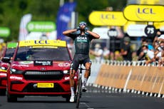 Nils Politt triumphs as Mark Cavendish made to wait for record-equalling win