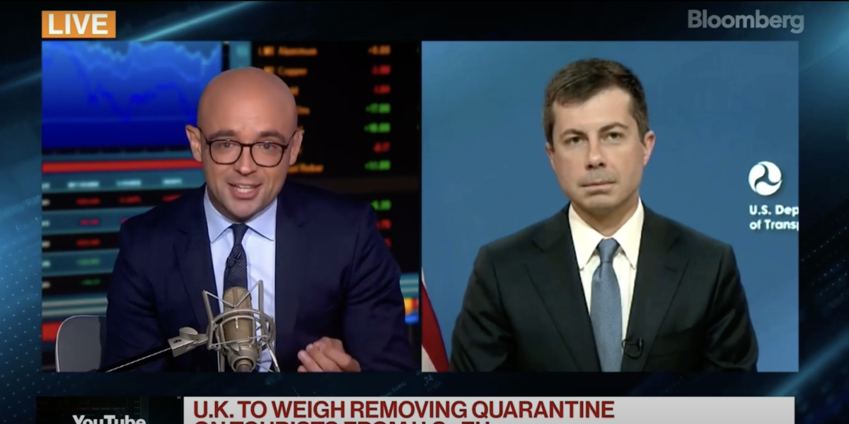 Journalist confronts Pete Buttigieg on air over UK-US restrictions that made him miss father's funeral