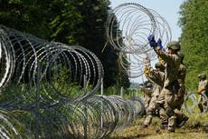 Lithuania builds border wall as Belarus autocrat Lukashenko accused of trying to stoke EU migrant crisis