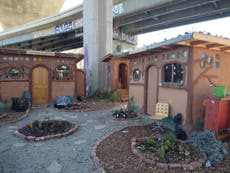 Unhoused people in Oakland built an eco-oasis during the pandemic – but may soon get evicted