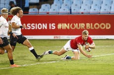 Lions take advantage of red card to comfortably beat Sharks as Jamie George leads late rout