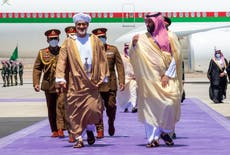 Oman's sultan arrives in Saudi Arabia on first foreign trip