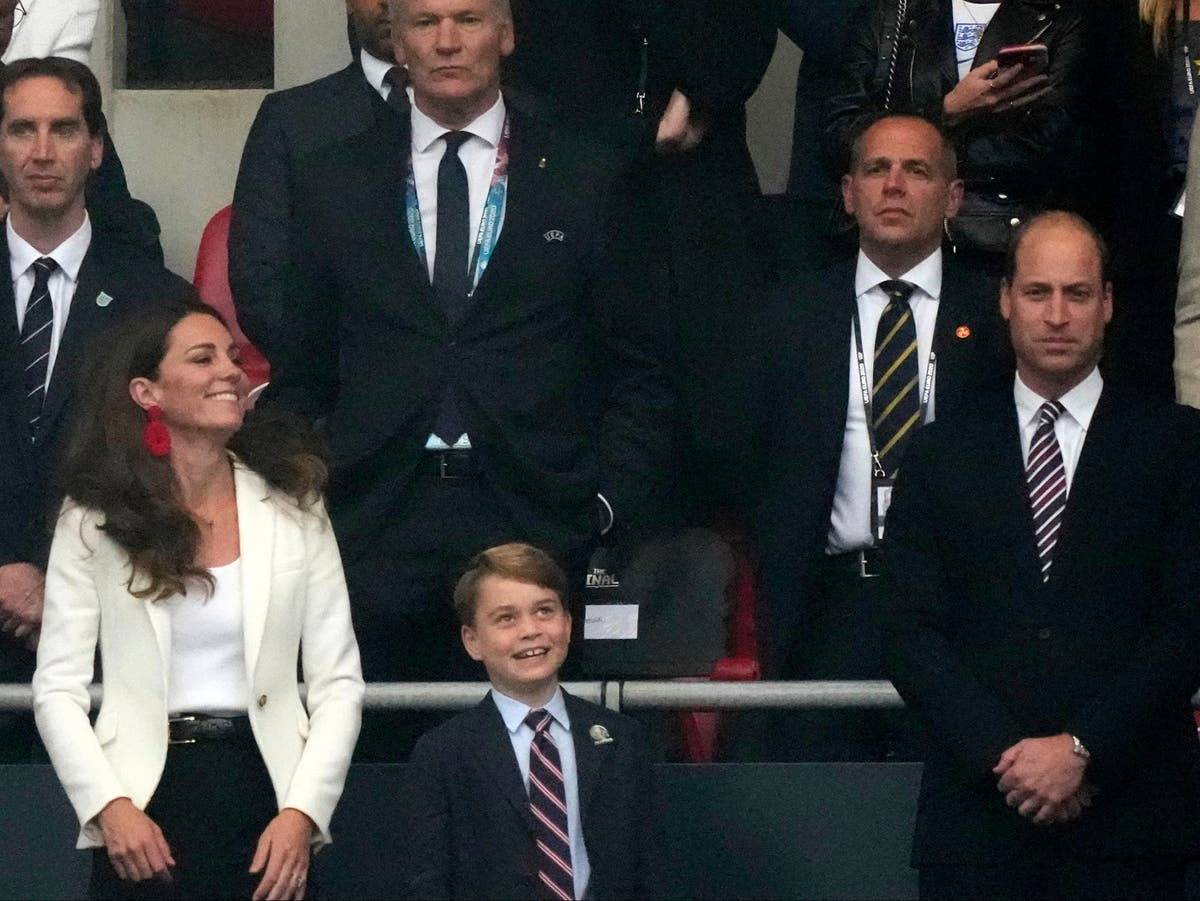Prince George in suit to cheer England in Euro 2020 final with parents