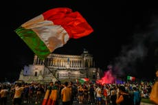 Italy explodes in joy after winning European soccer title