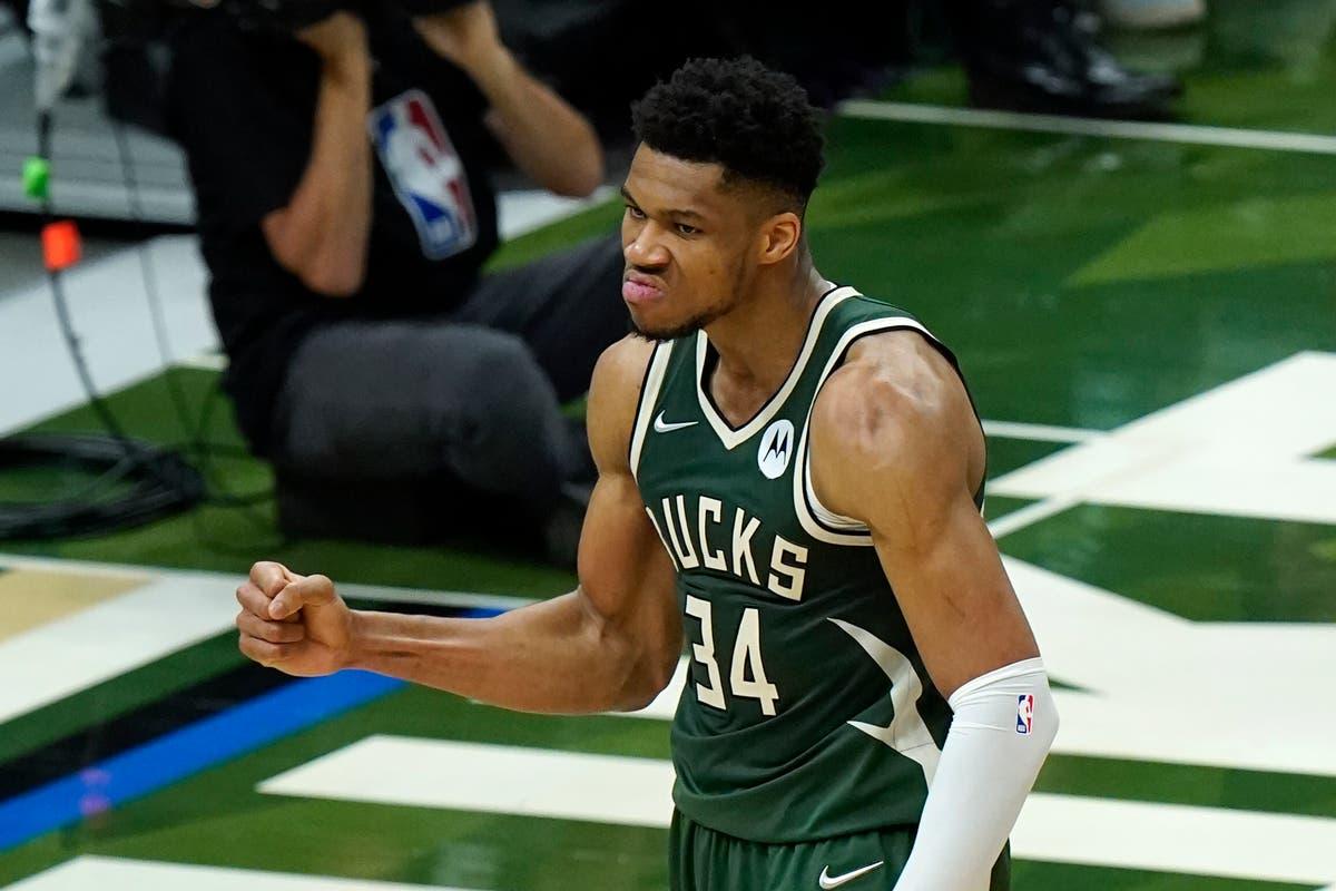 Giannis Antetokounmpo leads Milwaukee Bucks to 20-point romp over Phoenix Suns