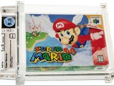 super Mario 64 blir det dyreste videospillet noensinne etter at uåpnet patron selger for 1,1 millioner pund