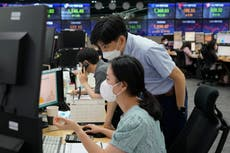 Asian stocks follow Wall St higher, China exports surge