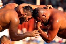 AP PHOTOS: Oil wrestling festival returns in Turkey