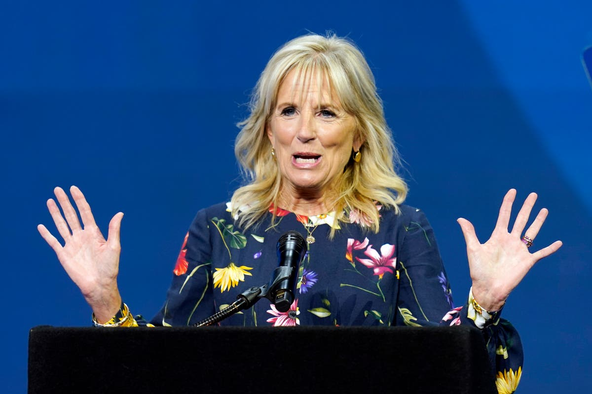 First lady Jill Biden returns to in-person teaching at community college