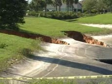 Giant sinkholes open up in Trump-loving Florida community