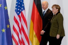 Biden and Merkel to focus on Russia, China and cyberattacks in White House talks – but not Nord Stream 2