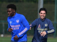 Mikel Arteta: 'Strong character' Bukayo Saka will bounce back after racist abuse following England defeat