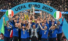 AP PHOTOS: After 1 month, Italy closes Euro 2020 with title