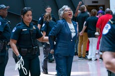 Congressional Black Caucus chair arrested during voting rights protest at Capitol