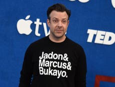 Jason Sudeikis hailed as 'legend' for supporting Rashford, Sancho and Saka at Ted Lasso premiere
