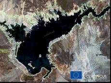 Satellite photos shows shocking impact of climate crisis in western US