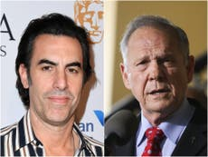 Sacha Baron Cohen reacts as former Alabama Chief Justice Roy Moore loses Who is America? lawsuit