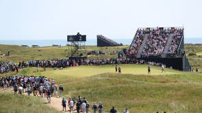 A view of spectators by the 2nd green during day four of The Open at The Royal St George's Golf Club in Sandwich, Kent