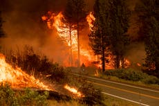 Dangerous conditions complicate wildfire fight in western US