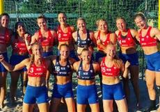 Norwegian women's beach handball team fined for not wearing bikini bottoms