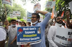 Protests erupt in India's Parliament over spying scandal