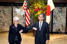 番号. 2 緊張が高まる中、米国の外交官シャーマンが中国を訪問