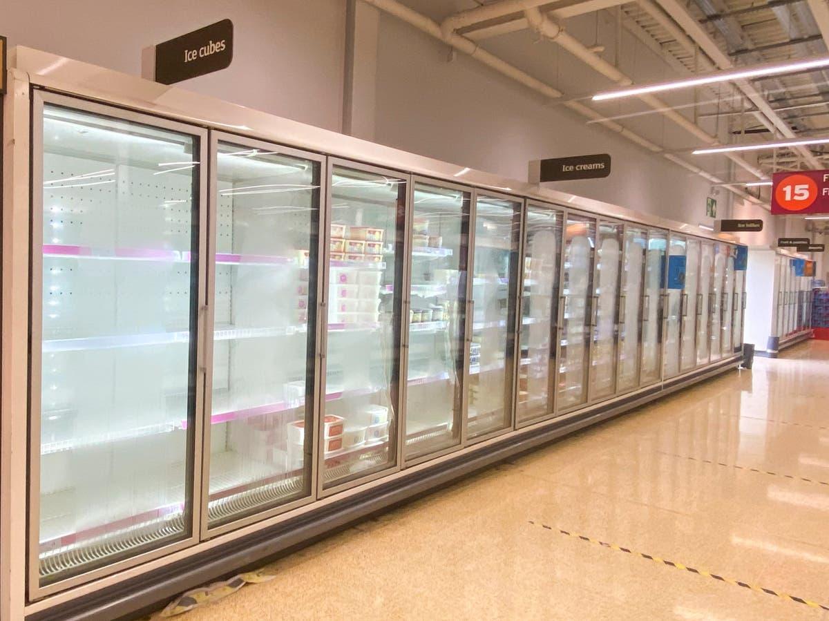 'Pingdemic' blamed for empty supermarket shelves