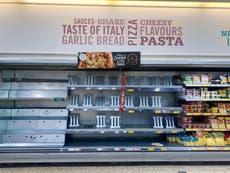 不 10 urges shoppers not to panic, as 'pingdemic' leads to empty shelves