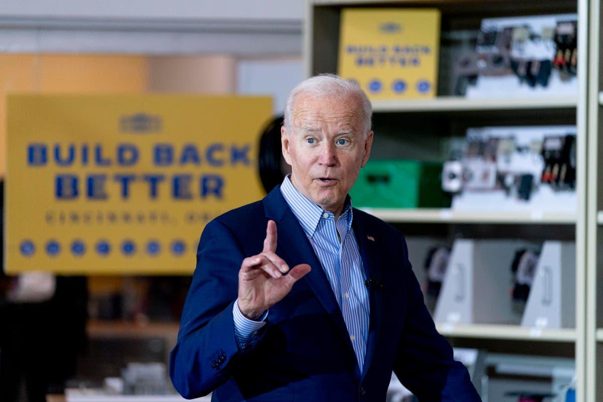 Biden aims to sell economic agenda in Cincinnati trip