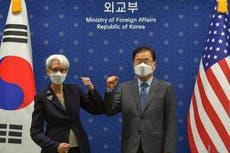 OSS, S. Korea er enige om å overbevise Nord om å gå tilbake til nukesamtaler