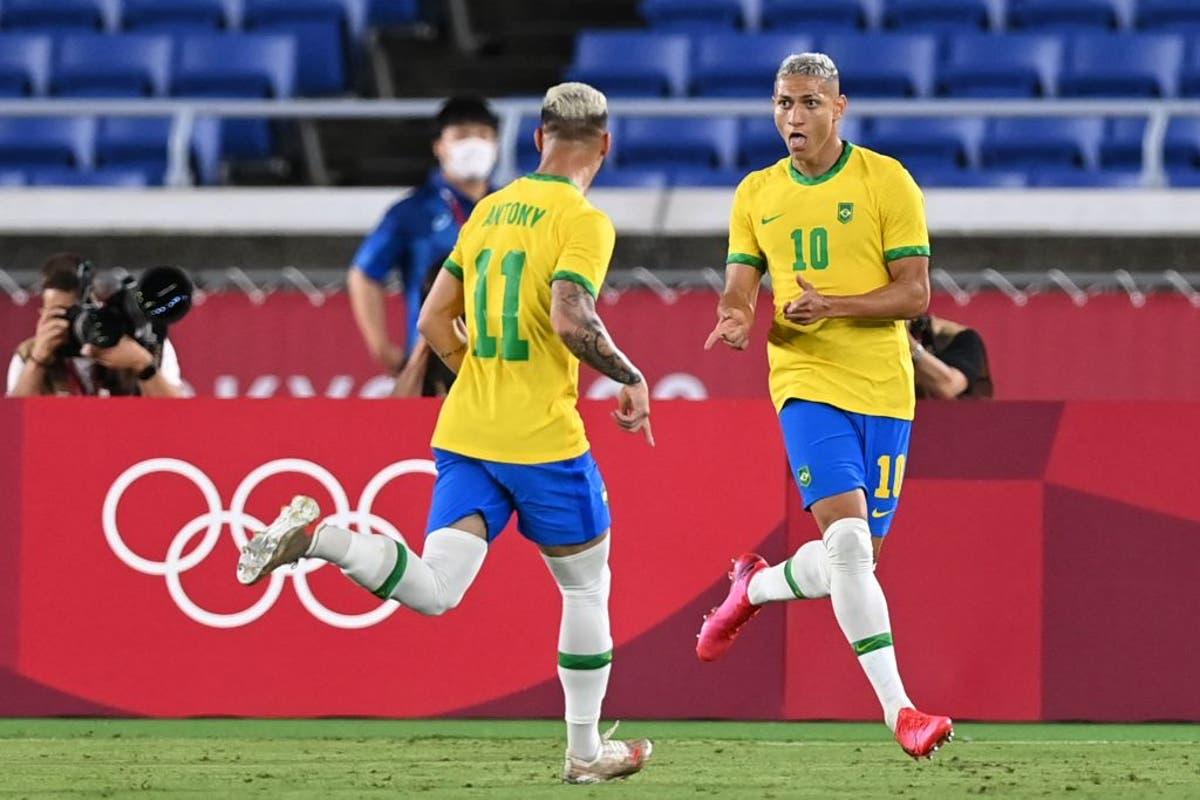 Tóquio 2020: Richarlison scores hat-trick as Brazil beat Germany at Olympics