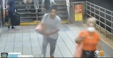 Man caught on video taking running punch at 60-year-old woman on NY subway platform