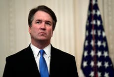 Protesters rally outside Brett Kavanaugh's DC home following Texas abortion ruling