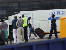 Zimbabweans deported by Britain arrive at Harare airport
