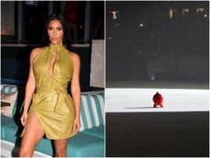 肯伊·韦斯特: Kim Kardashian supports ex-husband at launch event for new album Donda