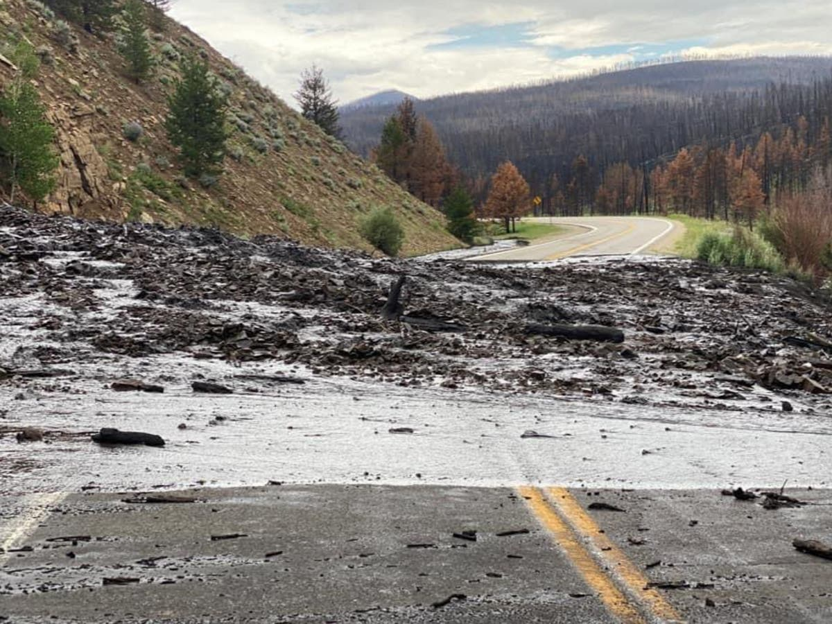 Heavy rain causes mudslides in wildfire-torched areas in Colorado
