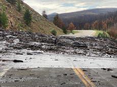 大雨はコロラド州の山火事で焼けた地域で土砂崩れを引き起こします