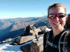 Esther Dingley: Possible human remains found near where British hiker went missing